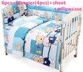 Promotion! 6/7PCS Baby Bedding Set Cot Crib Bedding Set for girls boys cuna baby bed bumper ,Duvet Cover,120*60/120*70cm
