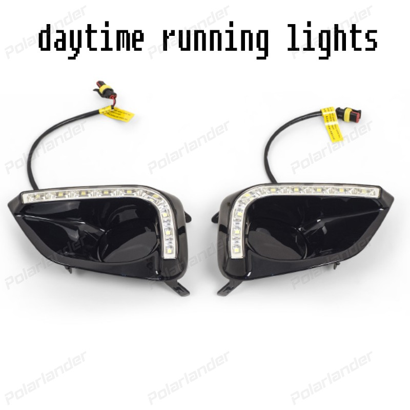 2 pcs Waterproof ABS Turn Signal 12v LED CAR DRL daytime running lights with fog lamp for T/oyota V/ios 2014-2015 2 pcs car styling daytime running lights with fog lamp for n issan new t eana or a ltima 2013 2015 turn signal