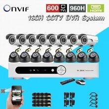 16-канальный Крытый Видео видеонаблюдения Камера комплект 16ch H.264 DVR Регистраторы безопасности Системы Камера комплект ck-214