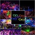 Многоцветный Glow Флуоресценции Очки LED Череп Очки Свет Светящиеся Палочки Неон Рождество Halloween Party Мигает Игрушка Новизны