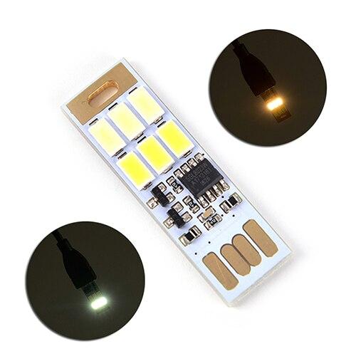 Adjustable Led Usb Light 1W 5V Mobile Phone Charger Desktop Notebook Computer Tablet Power Bank Mini Touch Control