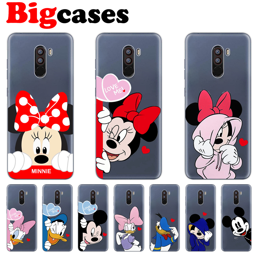 Soft TPU <font><b>Fundas</b></font> For <font><b>Xiaomi</b></font> <font><b>Mi</b></font> <font><b>A1</b></font> 5X A2 Lite 6X 8 SE PocoPhone F1 Case Cover Silicone Capa <font><b>Mickey</b></font> Minnie Coque Phone Back Shell image