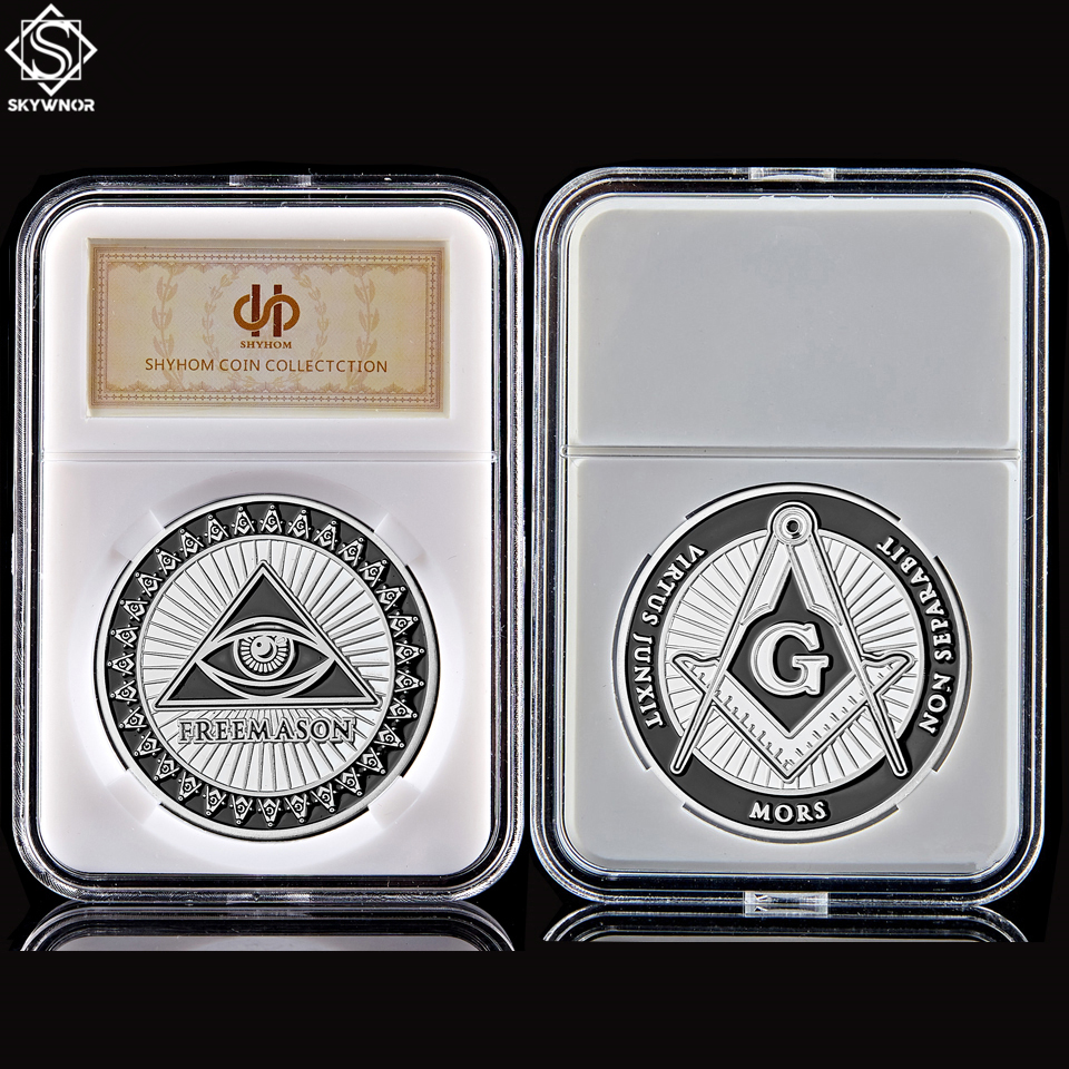 Token Free and Accepted Masons Silver Masonic Symbols Bullion&Coin Collection W/ PCCB Holder