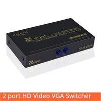 2 порта HD VGA переключатель ЖК-монитор KVM коммутатор 2 в 1 селектор коробка 2 в 1Out Vga Sharer сплиттер для компьютера FJ-15-2CH