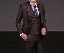custom made Advanced Custom many colors 3 Pieces! men's suits wedding suits groom suits (Jacket+Pants+Vest)