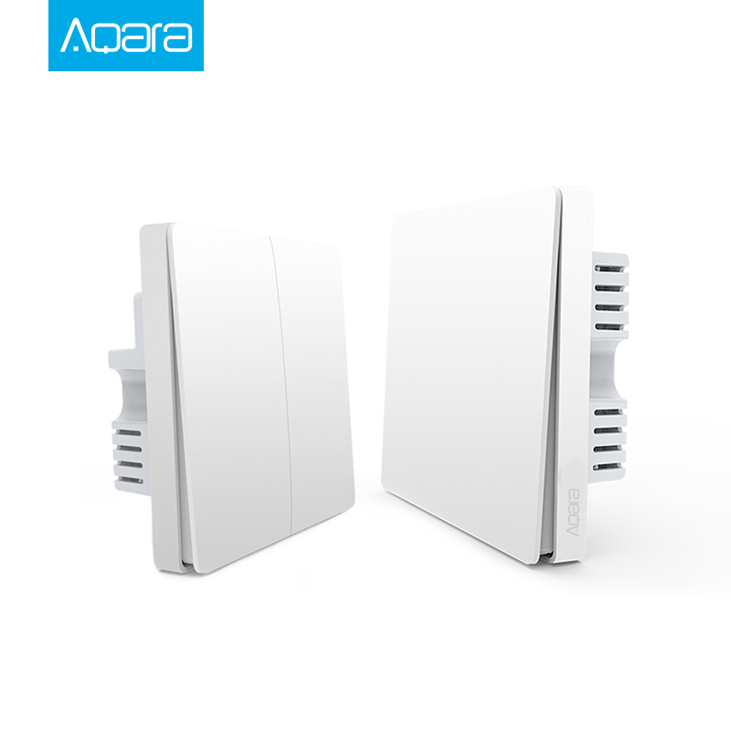 Xiaomi Aqara Switch Smart Light Control ZiGBee wifi wireless Wall Switch Via font b Smartphone b