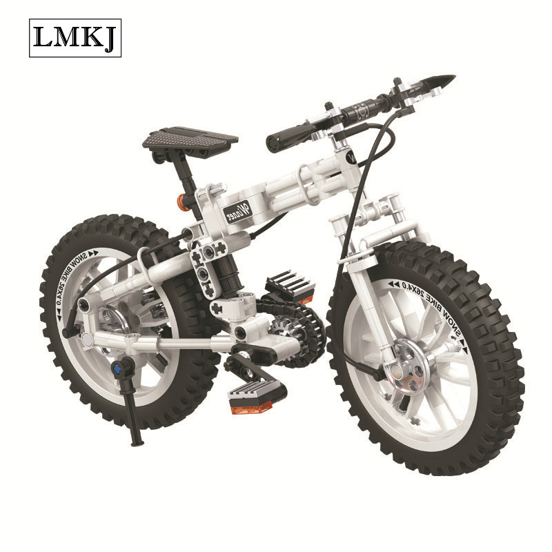 242pcs Technology Technic Folding Motor Bicycles Building Block Set Brick Kids Toys Compatible with Legoingly for Children Gift children s tricycle childs vehicles with push push folding bicycles baby bicycles child bicycles