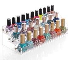 Acrylic cosmetics Nail enamel display box showing stand rack perfume mini bottle collection box holder storage rack