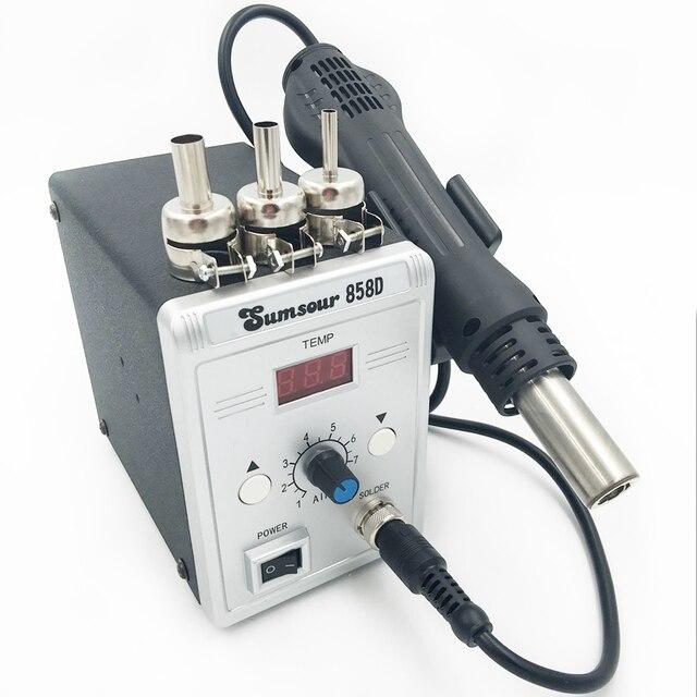 סוג חדש אוויר חם אקדח 858D הסרת הלחמה Reflow הלחמה SMD110V/220V 700W עבור ריתוך תיקון כלים