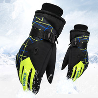 Men Women Ski Gloves Winter Waterproof Anti Cold Warm Gloves Outdoor Sport Snow Sportswear Skiing Gloves