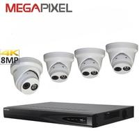 cctv ip camera kit hikvision 8mp 4k Network video Surveillance Security System DVR NVR Camcorder cctv combo kit camera pack