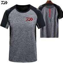 Daiwa летняя футболка для рыбалки одежда для рыбалки быстросохнущая дышащая одежда с защитой от УФ-лучей одежда с коротким рукавом рыболовная рубашка