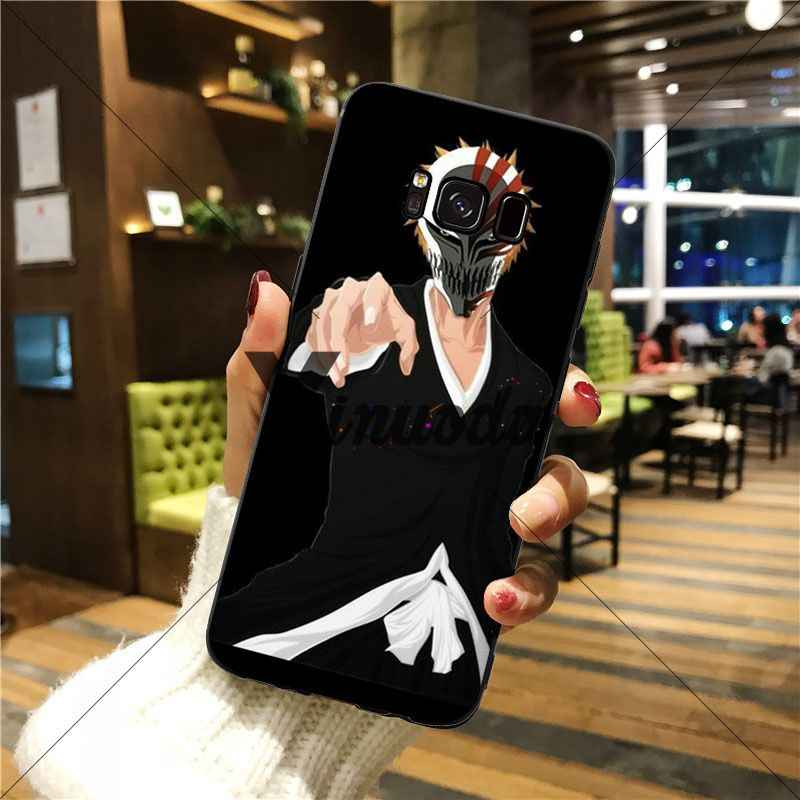 Yinuoda Bleach Ichigo Hollow Masker Mewah Karet Lembut Hitam Ponsel Case untuk Galaxy S6 EDGE Edge Plus S7 EDGE S8 plus S9 PLUS