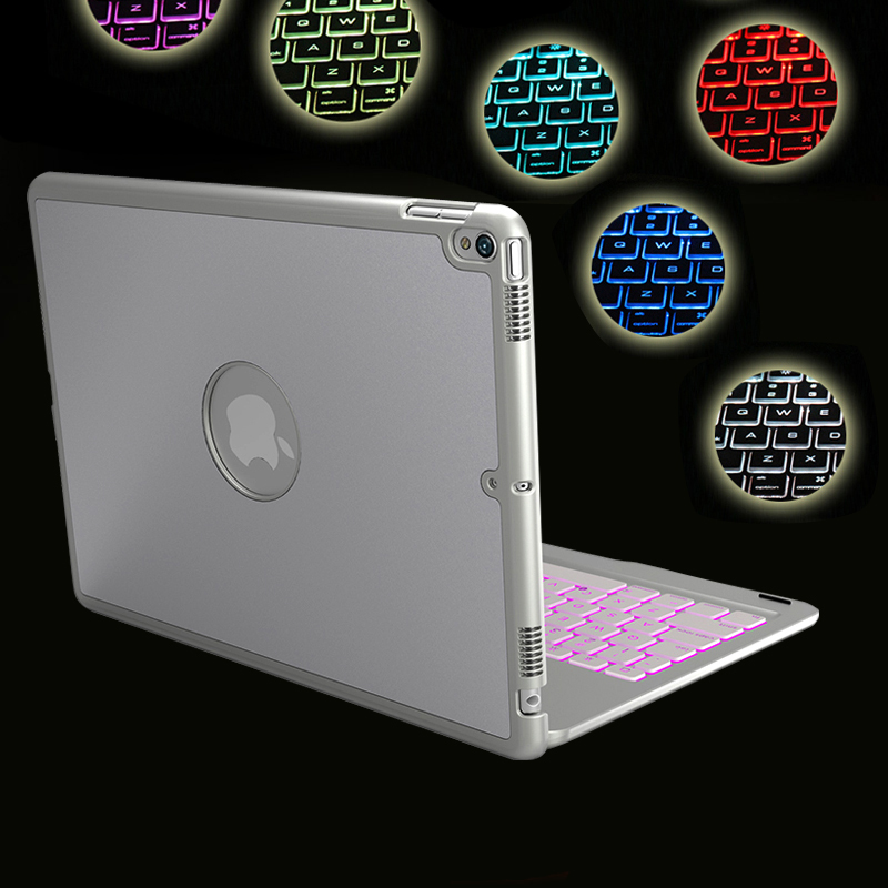 Case For iPad Air 3 10 5 inch 7 Colors Backlit Light Wireless Bluetooth Keyboard Case