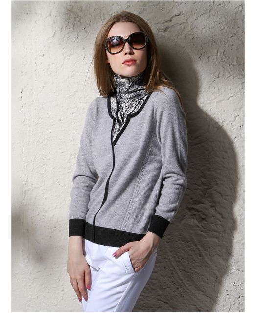 100�shmere Sweater Women Turtleneck Pullover Natural Fabric Warm ...