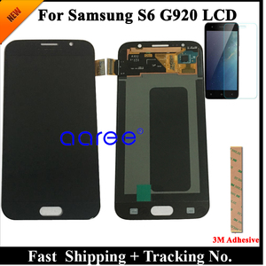 Image 2 - الصف AAA سوبر AMOLED لسامسونج S6 شاشة الكريستال السائل S6 G920F لسامسونج S6 G920 عرض LCD شاشة مجموعة رقمنة اللمس