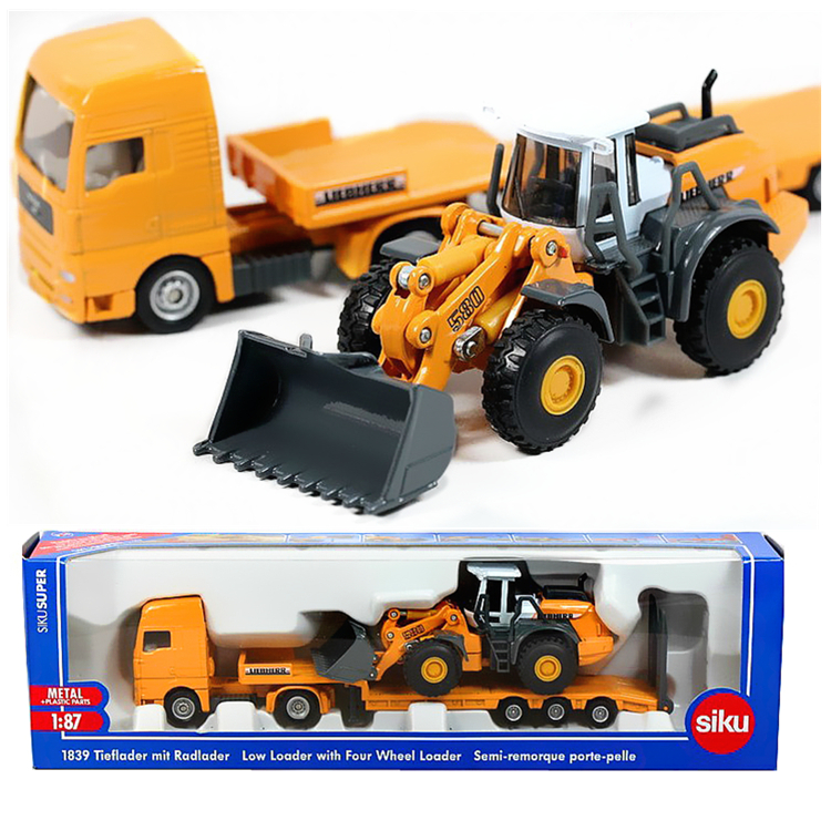 ФОТО SIKU 1:87 1939 Low lader with Four Wheel lader Diecast farm tractor