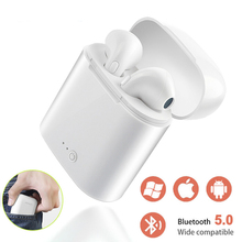 Original i7s TWS Wireless Earphone Bluetooth Headphones In-ear Stereo Earbud For Samsung iPhone Xiaomi huawei Sport Earphone geofox wireless earphone bluetooth earbuds in ear stereo sound sport earphone i7s tws for samsung iphone