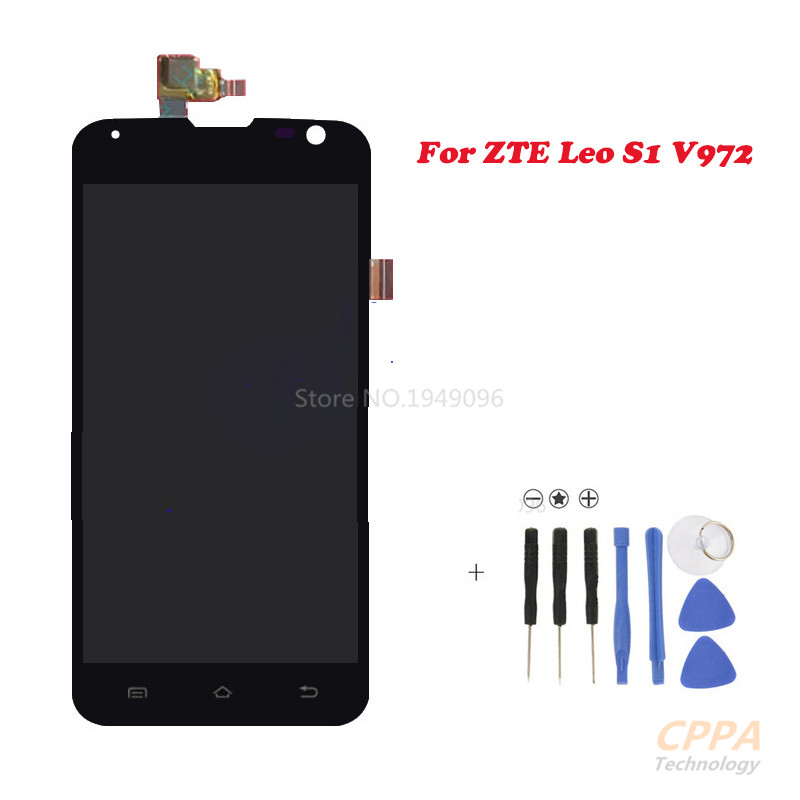 APS New Full LCD DIsplay+Touch Screen Digitizer Assembly Replacement For ZTE Leo S1 V972M V972 (Black) Free shipping, смеситель для кухни рмс sl77w 017f 1