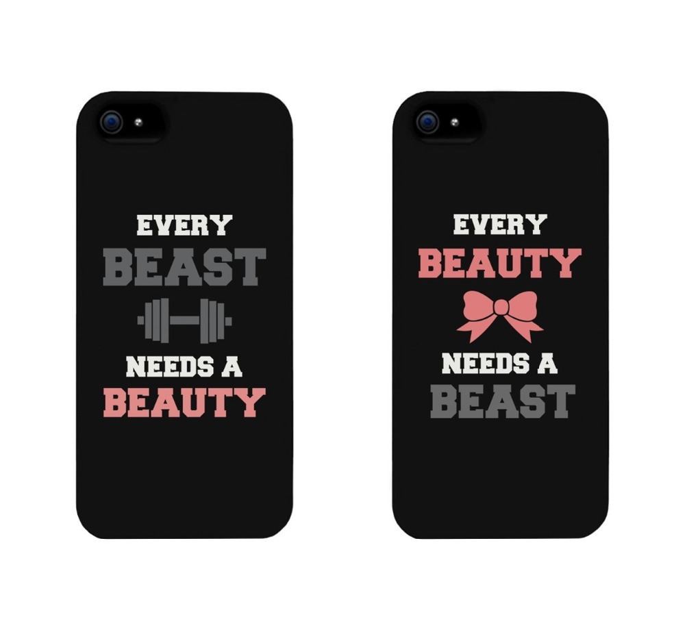 Beauty and Beast Lovers Pink Bow Cell Phone Print Hard Sweetheart Cases Cover Skin for iphone 4/4s/5/5s/5c/6/6s/6plus/6s plus
