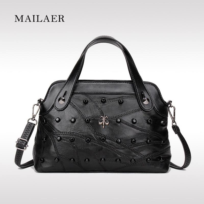 MAILAER new women bag true sheepskin shell package fashion handbag shoulder diag