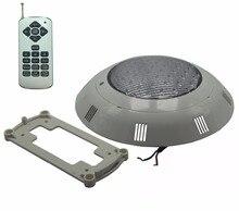 Luzes da piscina com fonte 12v ac luz subaquática ip 68 à prova dwaterproof água spa sauna lâmpada rgb cor múltipla com controle remoto 36w 45w 54w