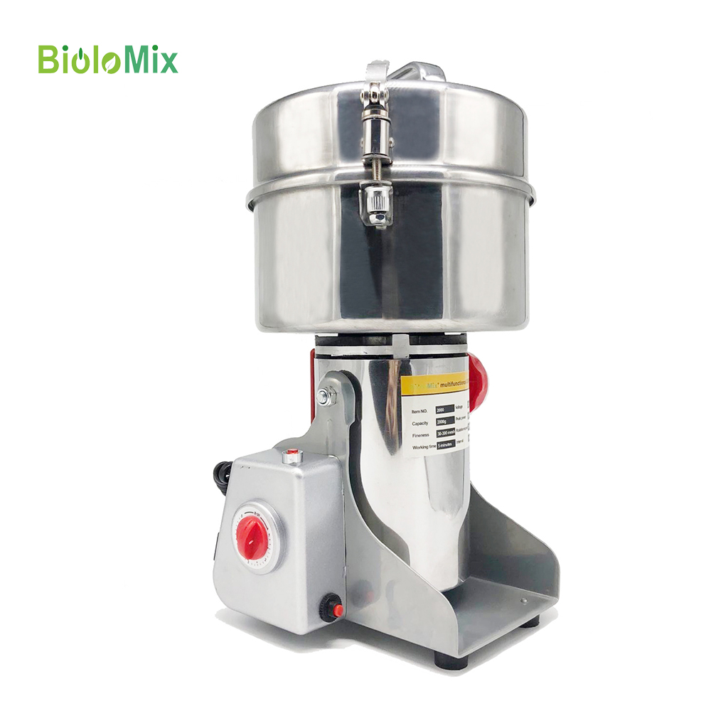 2000g Grains Spices Hebals Cereals Coffee Dry Food Grinder Miller Grinding Machine Gristmill Home Medicine Flour Powder Crusher