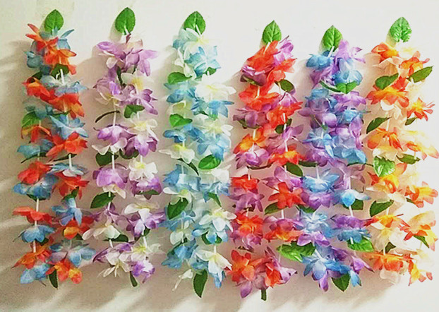 12pcslot 2018 hawaiian leis necklace tropical luau hawaii silk 12pcslot 2018 hawaiian leis necklace tropical luau hawaii silk flower lei theme party favors wreaths holiday wedding in wreaths garlands from home mightylinksfo