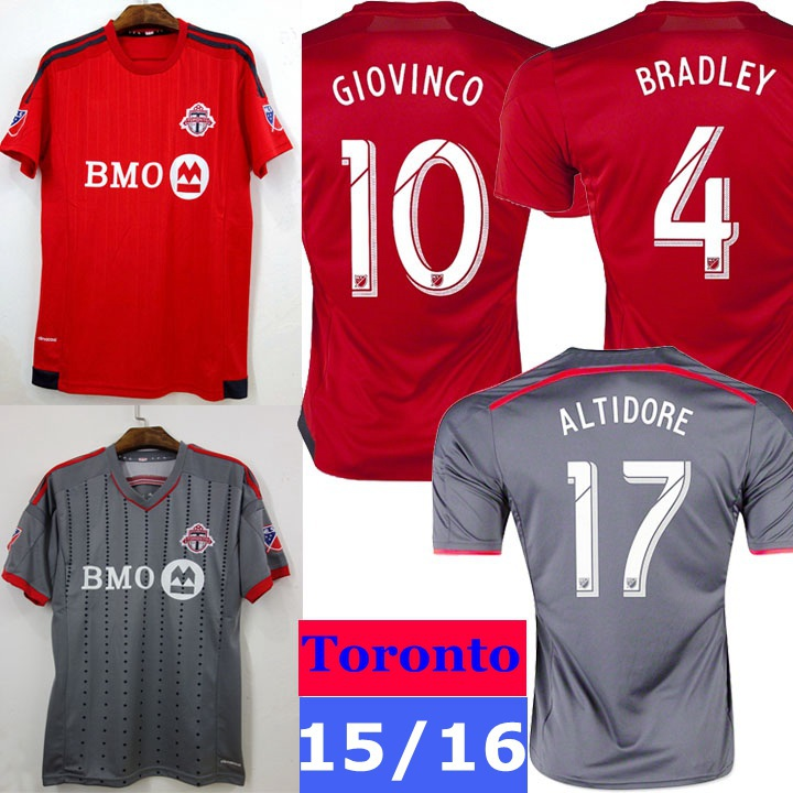 more photos 55109 c5d0f New 2015 Toronto FC Soccer Jersey MLS 15 16 Home Red Away ...