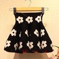 2017 New Spring & Autumn Children Knitting Skirt Brand Kids Print Flower Tutu Skirt High Cotton School Ball Gown for Girls,RC416
