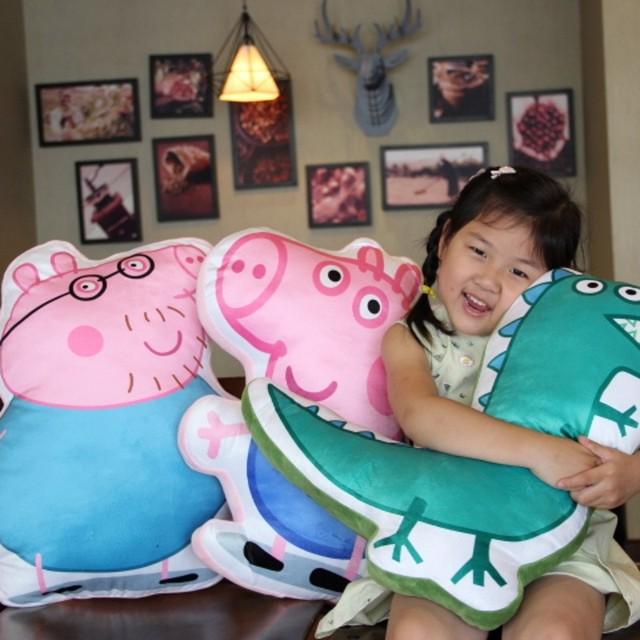 Envío Libre Pink Pig Familia George rellena juguete suave animal de peluche cojín home sofá decoración regalo para los niños