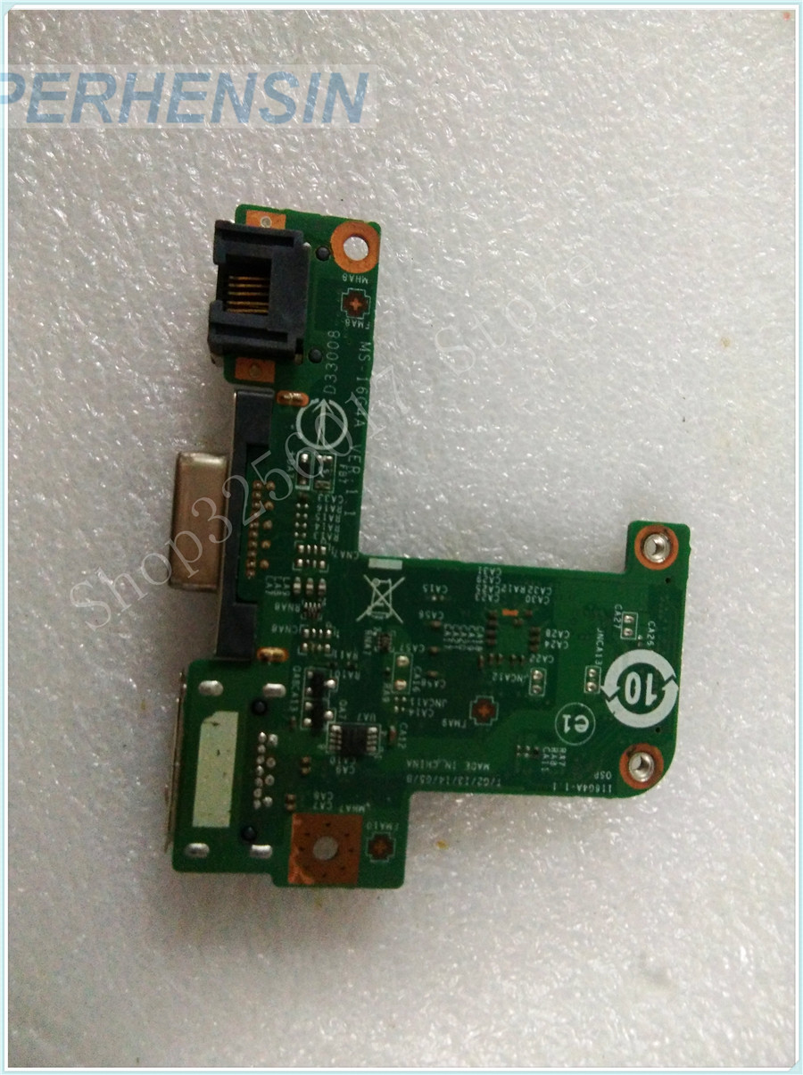 Original Genuine laptop FOR MSI FOR FX603 MS-16G4  MS-16G41 VGA WLAN USB BOARD MS-16G4A genuine laptop for msi for ms 13581 ms 1358 sd reader usb vga board ms 1358b