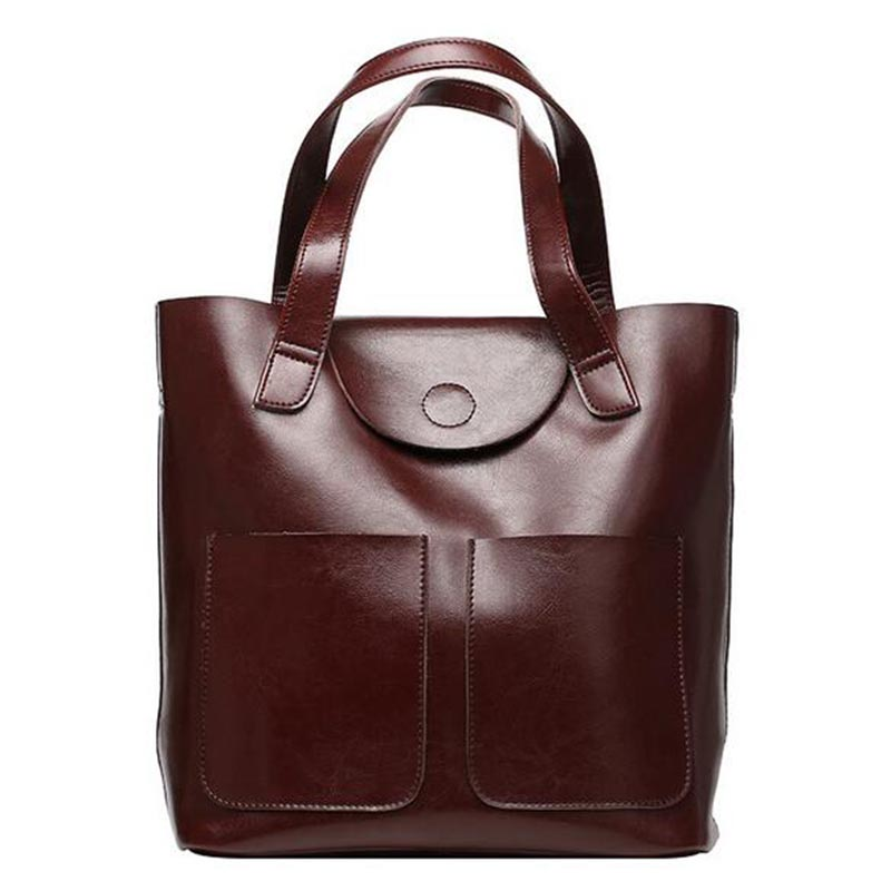 WILIAMGANU Big Bucket Genuine Leather Bags For Women Shoulder Bags Retro Bags Handbags Women Famous Brands New Ladies Hand Bags ladies genuine leather bag women messenger bags handbags women famous brands crossbody bags for women shoulder bag big