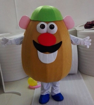 Adult Mr. Potato Head Mascot Costume Toy Story Adult Fancy Dress Cartoon carnival Outfits Vegetables Theme Anime Cosplay Costume
