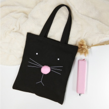 Casual shopping bag womens cute handbag cartoon canvas shoulder student creative portable storage