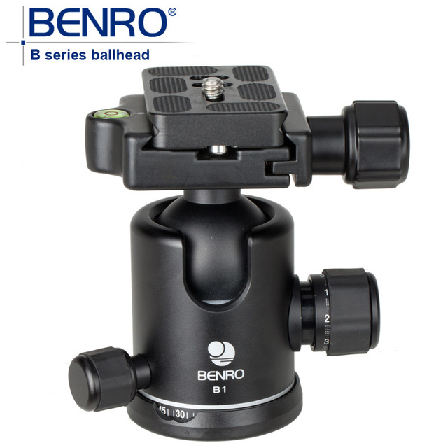 BENRO B Series Professional Ball Heads Dual Action Ballhead B1 B-1 Aluminum Lighter Weight Ball Head For Camera Tripod