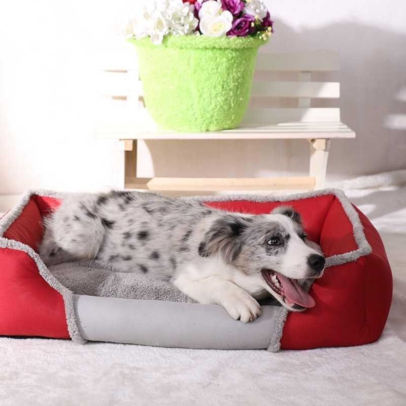 ペット犬猫ベッドマット家暖かいソフト材料巣犬バスケット小中大犬のための子犬子猫ペットハウス