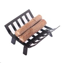 1/12 Dollhouse Furniture Metal Rack with Firewood for Living Room Fireplace Model(China)