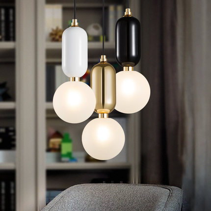 Creative Glass Ball LED Pendant Light Nordic Modern Droplight Hanging Lamp Fixtures For Home Living Lightings Kids Room Bar Cafe hemp rope novelty candy led pendant lamp reisn creative droplight modern hanglamp fixtures for home lightings cafe living room