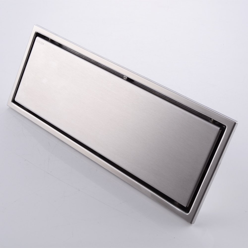 ФОТО 30 x 11cm SUS 304 Stainless Steel Invisible Linear Shower Floor Drain Wetroom Grate with Strainer