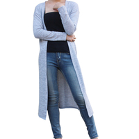 Gray Black Red Cardigan Women Sweater Casual Crochet Poncho Plus Size Coat Women Long Sweater