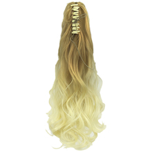Soowee Long Wavy Blonde Ombre Claw Ponytail Synthetic Hair Clip In Hair Extension Hairpiece Pony Tail Queue De Cheval
