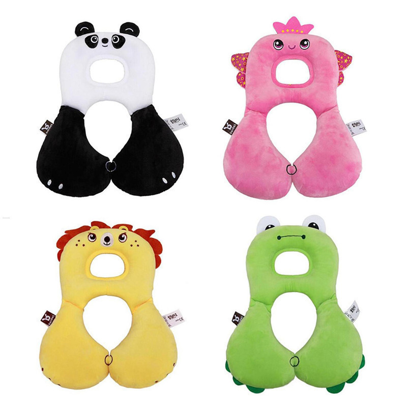 Cute Animal U-Shape Baby Pillow Neck Protection Pillow For 0-12Years Kids Infant Toddler Safety Seat Pillow Travel Accessories
