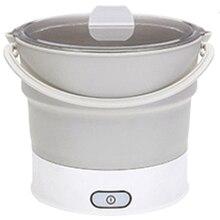 Складная электрическая сковорода, чайник с подогревом, контейнер для еды с подогревом, Ланч-бокс, портативная плита, горячий чайник для приготовления чая, вилка стандарта США