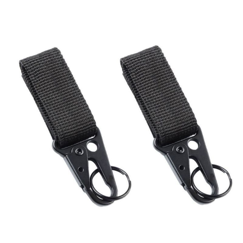 2 PCS Nylon Belt Keychain, Gear Keeper Pouch, Key Ring Holder, Compatible With Molle Bags, Perfect Webbing Attachment Strap New