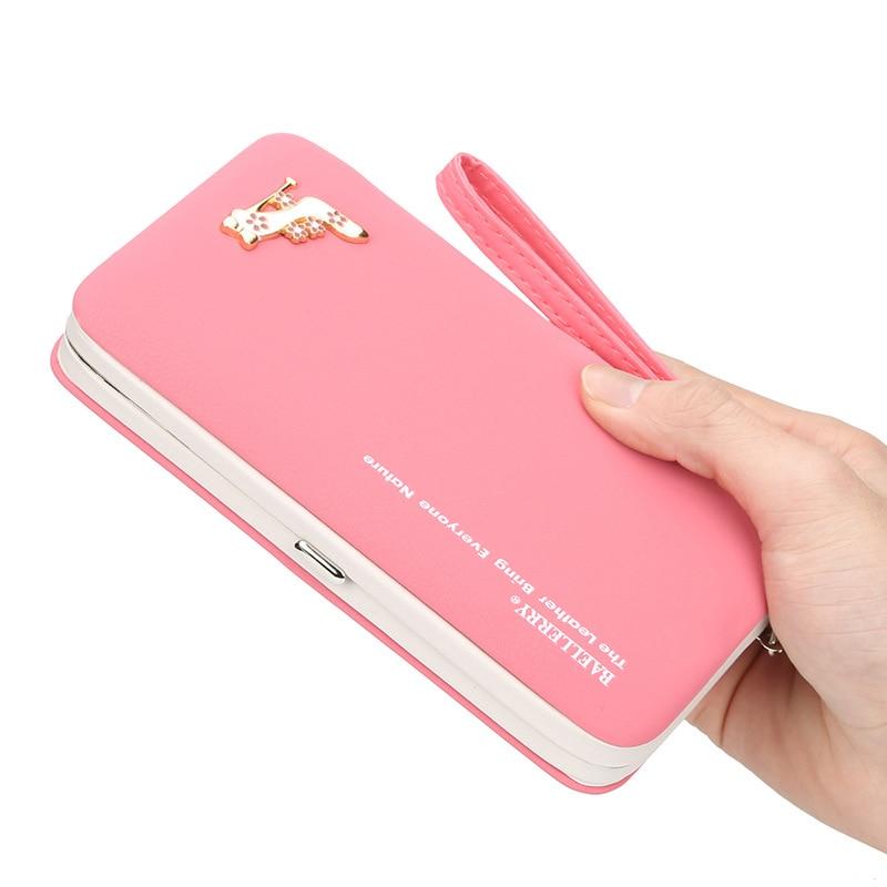 minimalist zipper phone money card women long wallet purse pu leather Large Capacity clutch 2019 korean vogue sale High Quality