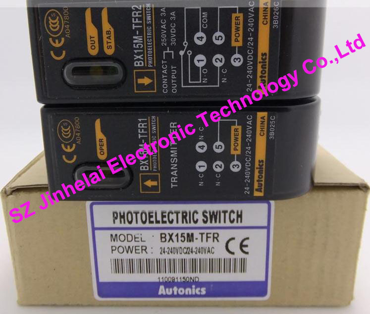 BX15M-TFR , BX15M-TFR-T Aotonics New and original PHOTOELECTRIC SWITCH new and original e3x da11 s omron optical fiber amplifier photoelectric switch 12 24vdc