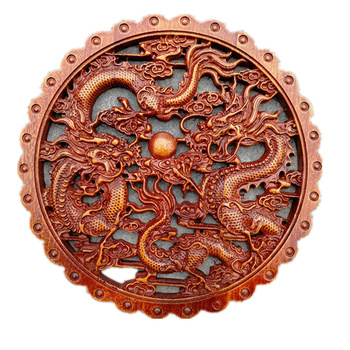 Round diameter 28cm woodcarving wall hanging decoration home decoration