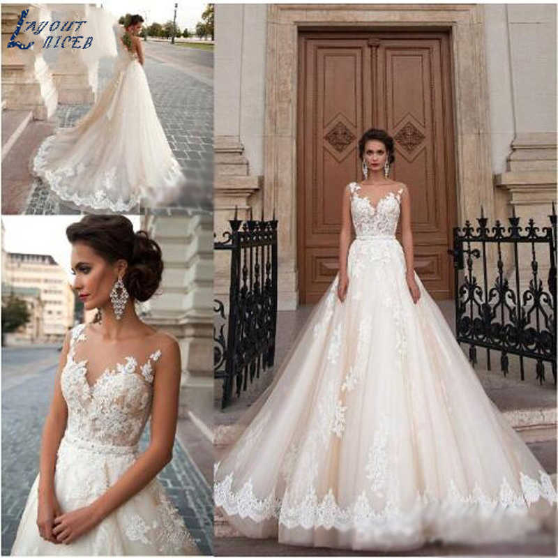 SHJ135 2019 Luxury Vestido De Noiva Sexy Robe De Mariee Luxury Wedding Dresses Cut-out Bridal Dress