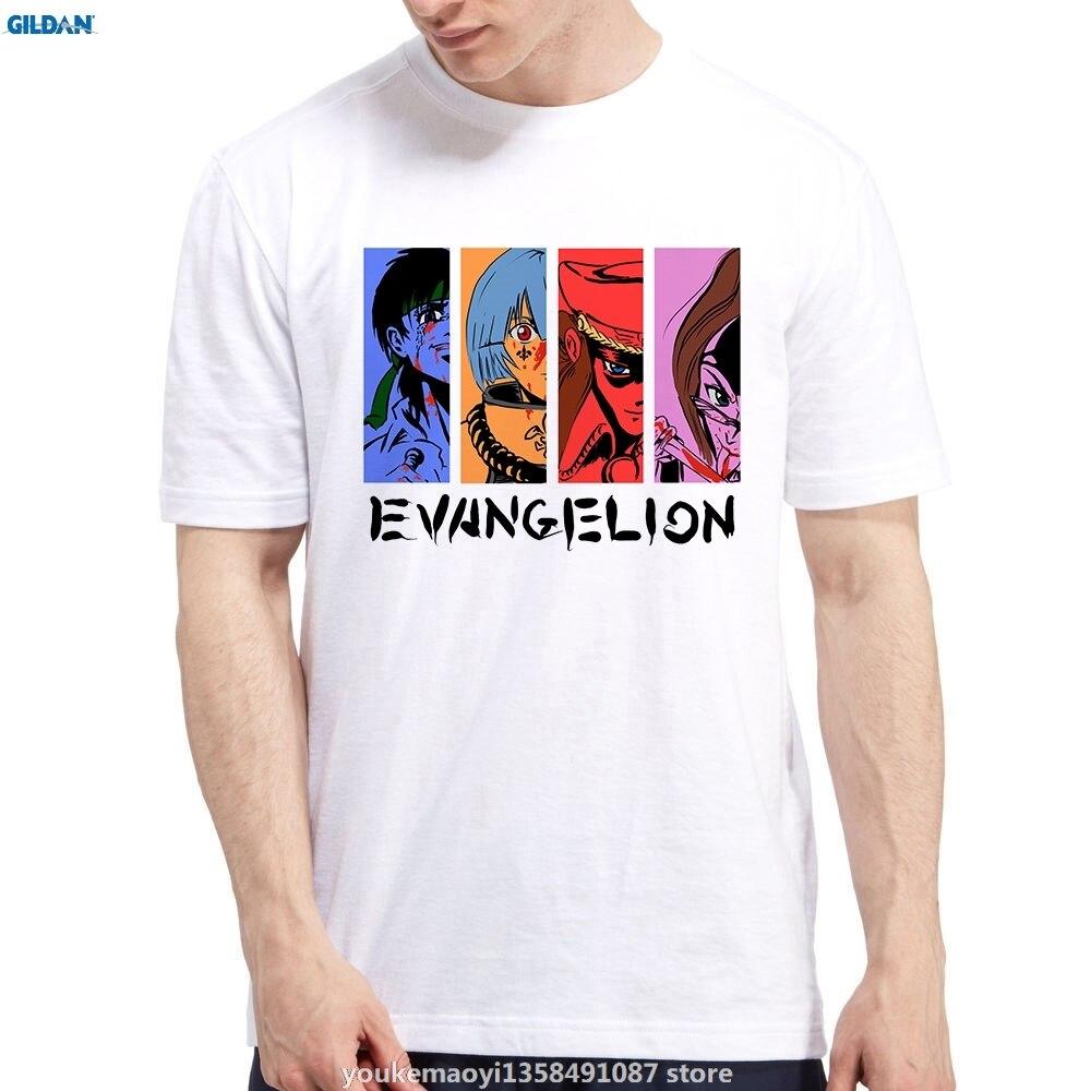 Возьмите Евангелион Синдзи Rei Аска Mari Мисато Аниме футболки для Для мужчин мультфильм короткий рукав Для мужчин S футболки модные